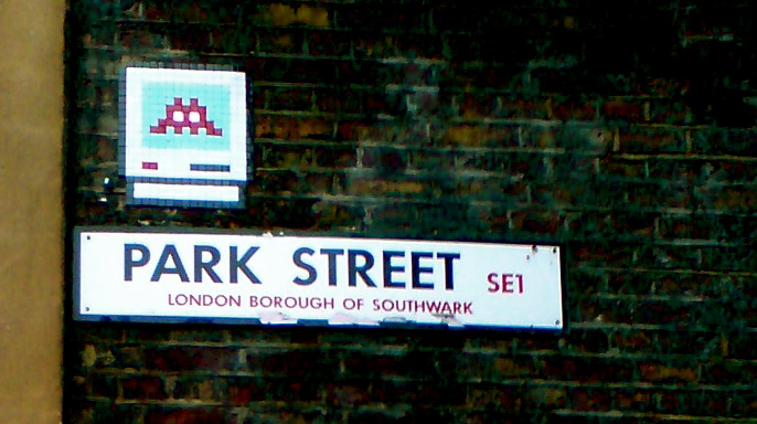Invader on London's Park Street